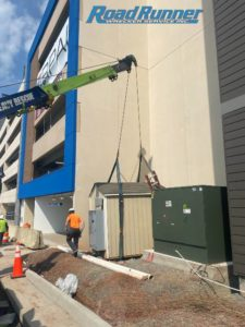 construction equipment hauling